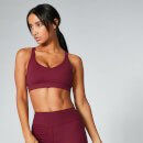 Power Mesh Sports Bra - Oxblood