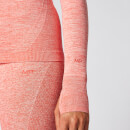 Inspire Seamless Long-Sleeve Top - Hot Coral