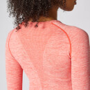 Inspire Seamless Long-Sleeve Top - Hot Coral - XS