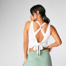 Tie-Up Vest - White - XS - White