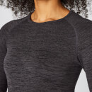 Inspire Seamless Long-Sleeve Top - Slate - XS