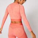 Inspire Seamless Crop Top - Hot Coral - XS