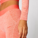 Inspire Seamless Crop Top - Hot Coral - M