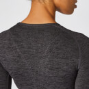 Crop top Inspire sans couture - Noir - XS