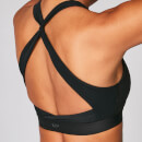 Power Cross Back Sports Bra - Black - M