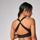 Power Cross Back Sports Bra - Black - XS