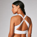 Power Cross Back Sports Bra - White - XL