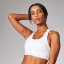 Power Cross Back Sports Bra - White