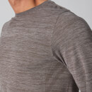 Aero Knit Long-Sleeve T-Shirt - Gråbrun - XS