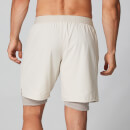 Dubbellaagse Power Shorts - Chalk Marl - XS