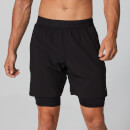 Power Double-Layered Shorts - Black - XS