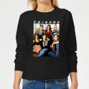 Friends Vintage Character Shot Women's Sweatshirt - Black