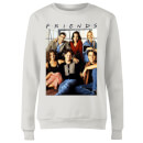 Friends Vintage Character Shot Women's Sweatshirt - White