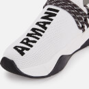 Armani Exchange Women's Knitted Runner Style Trainers - White