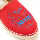 KENZO Women's Classic Tiger Espadrilles - Medium Red