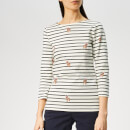 Joules Women's Harbour Print Jersey Top - Cream Dog Stripe