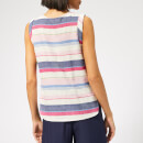 Joules Women's Alyse Sleeveless Woven Top - Blue Stripe