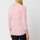 Joules Women's Harbourlight Jersey Top - White Red Stripe