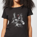 Star Wars Boba Fett Distressed Women's T-Shirt - Black