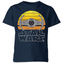 Star Wars Sunset Tie Kids' T-Shirt - Navy