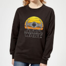 Star Wars Sunset Tie Women's Sweatshirt - Black