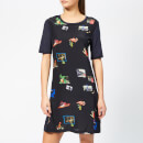 PS Paul Smith Women's Scrapbook T-Shirt Dress - Black