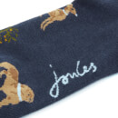 Joules Women's Brilliant Bamboo Single Socks - Navy Dogs