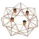 Nkuku Derwala Geometric Candle Holder - Antique Brass