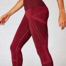 Impact Seamless Leggings - Oxblood  - XS