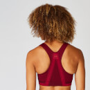 Impact Seamless Sports Bra - Oxblood  - XS