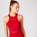 Shape Seamless Crop Vest - Red - XS