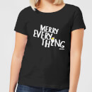 Smiley World Merry Everything Women's T-Shirt - Black