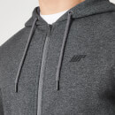 Tru-Fit Zip Up Hoodie 2.0 - Charcoal Marl - XS