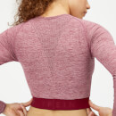 Inspire Seamless Crop Top - Dusty Rose - XS - Dusty Rose