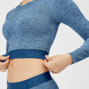 Inspire Seamless Crop Top - Blue - XS