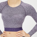 Inspire Seamless Crop Top - Purple - XS