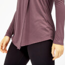 Twist Long Sleeve T-Shirt - XS - Mauve