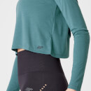 Spring Long-Sleeve T-Shirt – Teal Green - XS