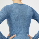 Inspire Seamless Long Sleeve Top - Blue - XS - Soft Blue