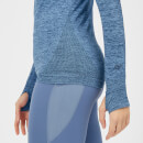 Myprotein Inspire Seamless Long Sleeve Top - Blue - XS