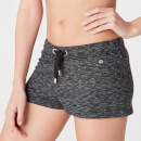 Luxe Lounge Shorts - Black Heather - XS