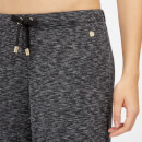 Luxe Lounge Boyfriend Joggers - Black Heather - XS