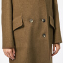 JW Anderson Women's Double Face Wool Scarf Coat - Brown