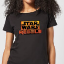Star Wars Rebels Logo Women's T-Shirt - Black