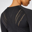 Shape Seamless Long-Sleeve Top – Schwarz - XS