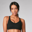 Power Mesh Sports Bra - Black - XS