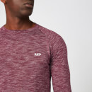 Performance Long Sleeve T-Shirt - Burgundy Marl - XS