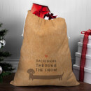 Dachshund Through The Snow Christmas Sack