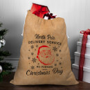 North Pole Delivery Service Christmas Sack