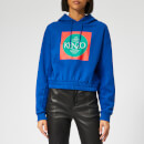 KENZO Women's Bold Gathered Hoodie - French Blue